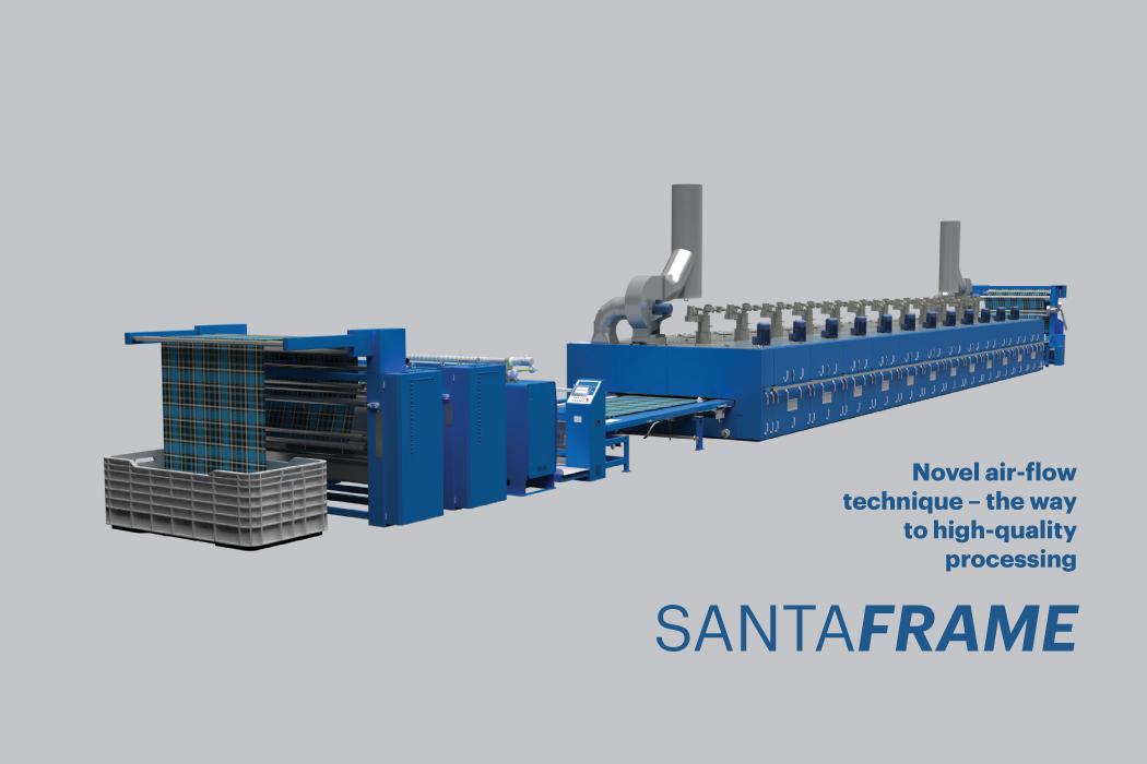 High performance stenter machine Santaframe